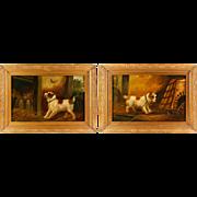Pair Of Original Oil Paintings Of Terriers