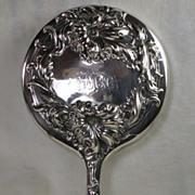 Vintage Silver Plated Art Nouveau Vanity Mirror