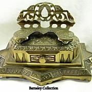 Bradley Hubbard Mfg Co Vintage Brass Inkwell – c.1890