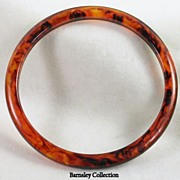 Vintage Bakelite Tortoise Bangle Bracelet