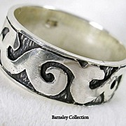 Large Sterling Silver Man's Band Ring