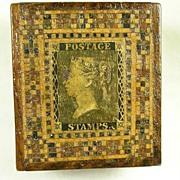 Early Victorian Tunbridge Ware Stamp Box