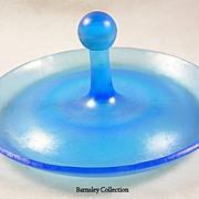 Vintage Opalescent Turquoise Blue Vanity Tray