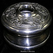 Vintage Silver Plated Vanity Hair Pot