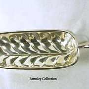 Silver Plated Large Oblong Leaf Tray