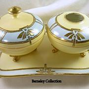Signed T & V E. Kodish LIMOGES France Vintage Vanity Tray