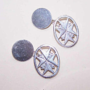Vintage STERLING SILVER Cufflinks/Cuff Links - Maltese Cross