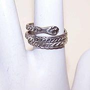 Vintage STERLING SILVER Coiled Snake Ring!