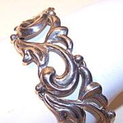 Vintage STERLING MEXICO Bracelet - Sinuous Curved Links!