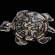 Trifari Silver Tone Sea Turtle Pin