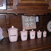 SALE Series of 5 spice jars/ pots a epice