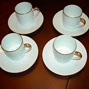 Set of Four Limoges Demi Tasse