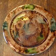 Antique English Creamware plate with Whieldon type glazes, circa 1780