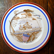 Antique Remember The Maine Plate