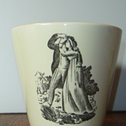 Vintage Shreve Crump & Low Wedgwood Creamware Sailor Cup