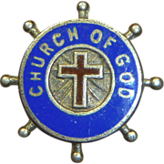 Vintage Church Of God Enamel Pin