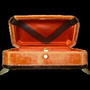 Vintage Art Deco Velvet Watch Box