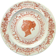 1887 Royal Worcester Golden Jubilee Plate for Queen Victoria