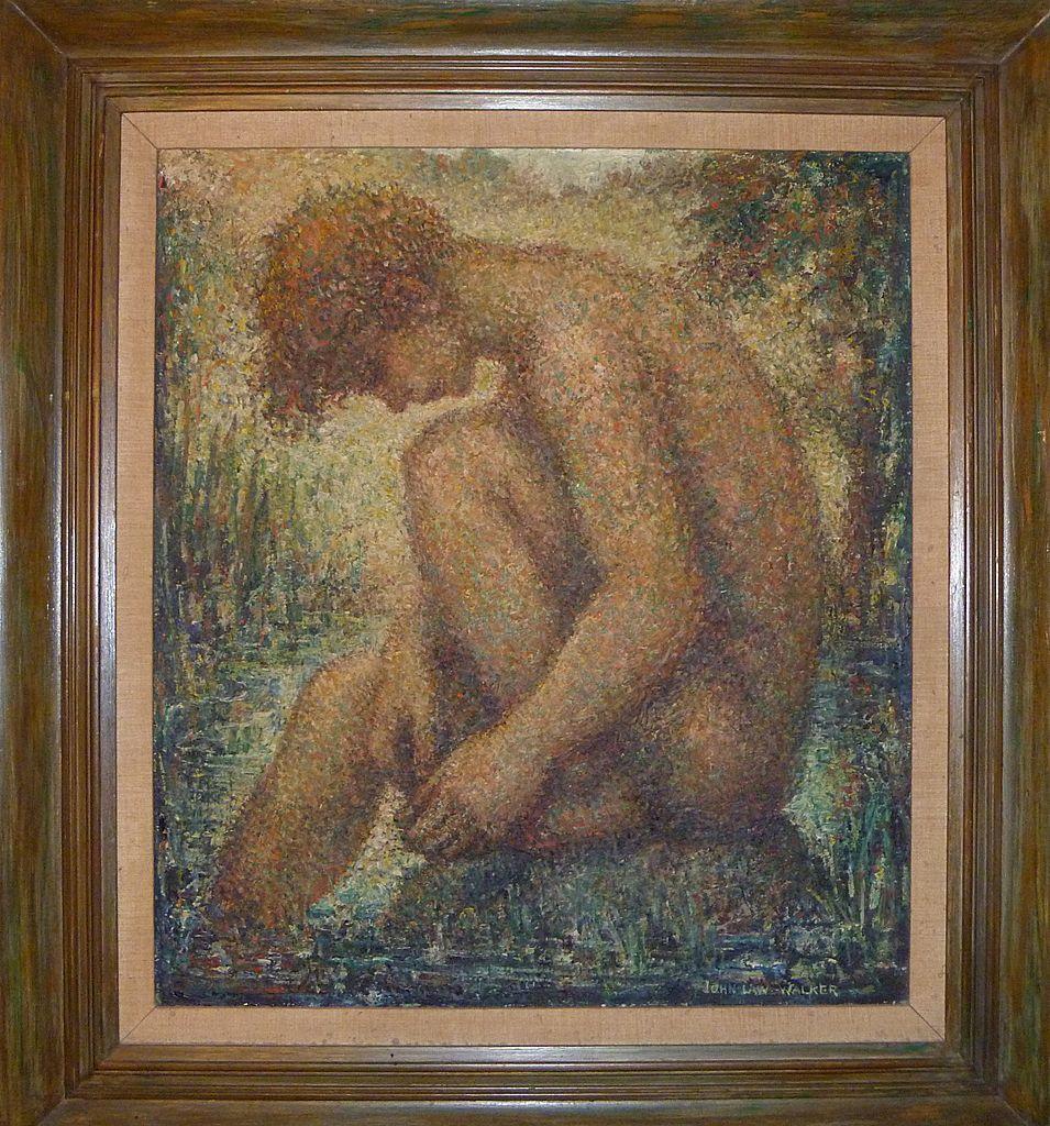 """Oil Painting by John Law Walker """"Boy"""" 1950"""