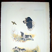 Lithograph of an Setters by BORIS RIAB