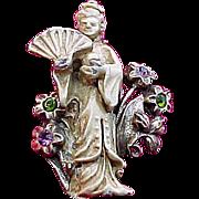 Japanese Geisha Figural Pin!
