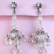 Dangling Aurora Borealis Swarovski Crystal Earrings
