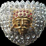 ORA Exotic Rhinestones Pin  Masonic Shriner's