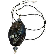 One-Of-A-Kind - Constellation - Glass Lampwork Artisan Focal - Wearable Art Necklace