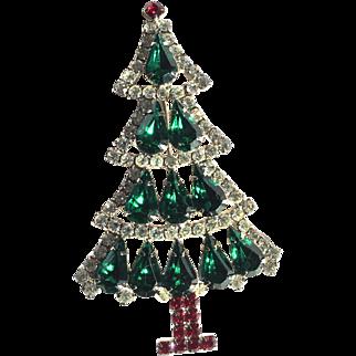 Hobe Christmas Tree Brooch