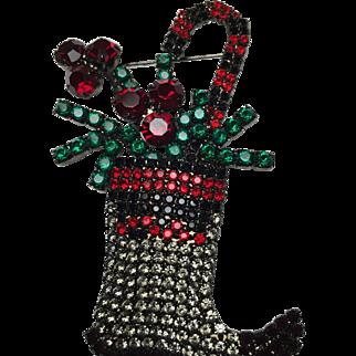 Christmas stocking Brooch by Bettina Von Warhof
