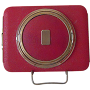 Vintage  Red Lin Bren  Compact and Cigarette Holder