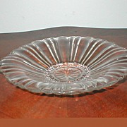 "Depression Glass ""Old Cafe""  Closed Handle Candy Bowl"