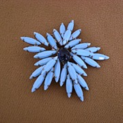 Turquoise  Brooch/Pin  Starburst Shape