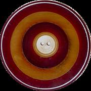 Two Color Laminate Large Bakelite Concave Button