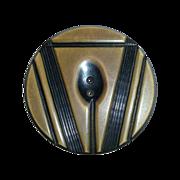 Art Deco Carved Celluloid XL Button
