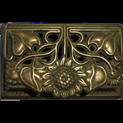 Brass Trinket or Stamp Hinged Box