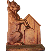 Cast Iron Boxer Dog Bookend or Doorstop
