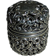 Unger Bro Sterling Filigree Chatelaine Sewing Thimble Case
