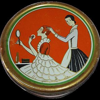 Richard Hudnut 1927 Art Deco Dusting Powder Tin