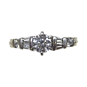 Fine Seven Diamond Platinum Ring