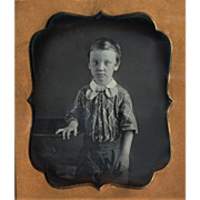 Daguerreotype Young Boy Union Case 6th Plate. Nice.