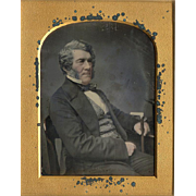 Daguerreotype Gentleman with Cane - Over Sized Quarter Plate - Photographers to the Queen