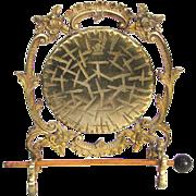 Victorian Burmese Dinner Gong Gilded Brass and Bronze