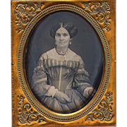 Daguerreotype Fashionable Lady c 1855 - 6th plate