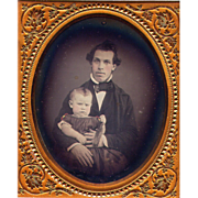 Father Child Daguerreotype - 6th plate