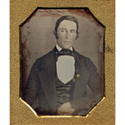 Sealed Early Daguerreotype of a Gentleman c1850 - 6th plate