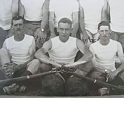 Bayonet  Fighting Class Photo 1916 CAMP BORDEN - 15 Soldiers in Muscle Shirts