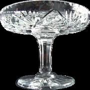 Crystal Tazza/Compote - Vintage European - Pinwheel Design