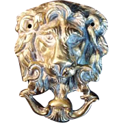 Vintage Cast Brass Door Knocker - Classic Lion - Traditional