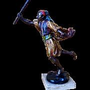 Franz Bergman Cold Painted Vienna  Bronze Figurine - Orientalist  Man
